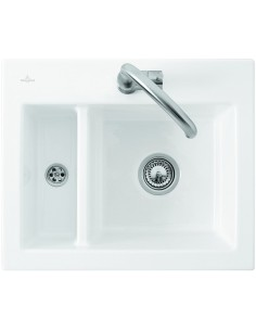 Villeroy & Boch 1.5 Bowl Topmount Kitchen Sink Ceramic White