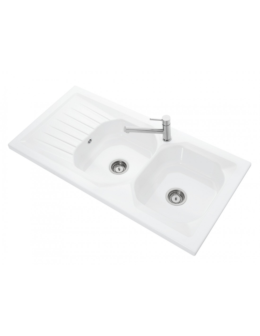 villeroy boch provence lay sit on kitchen sink ceramic - Double Ceramic Kitchen Sink