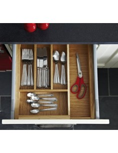 Expanding Cutlery Tray Oak To Suit 450mm Depth 800-1000mm Width