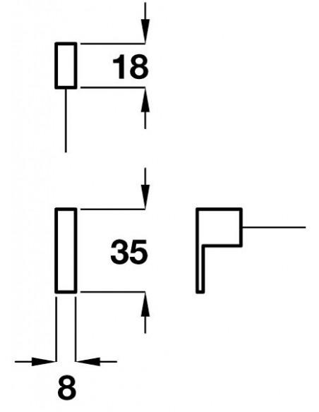 Modern Square Knob