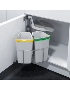 Oeko Centre Swing Waste Bin Double Container
