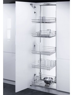 600mm Vauth-Sagel HSA Swing Out Larder Classic Silver Baskets