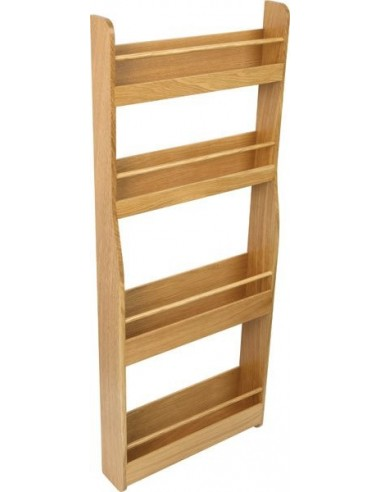 54313423 solid oak tall storage rack shelving suits door fix. Black Bedroom Furniture Sets. Home Design Ideas