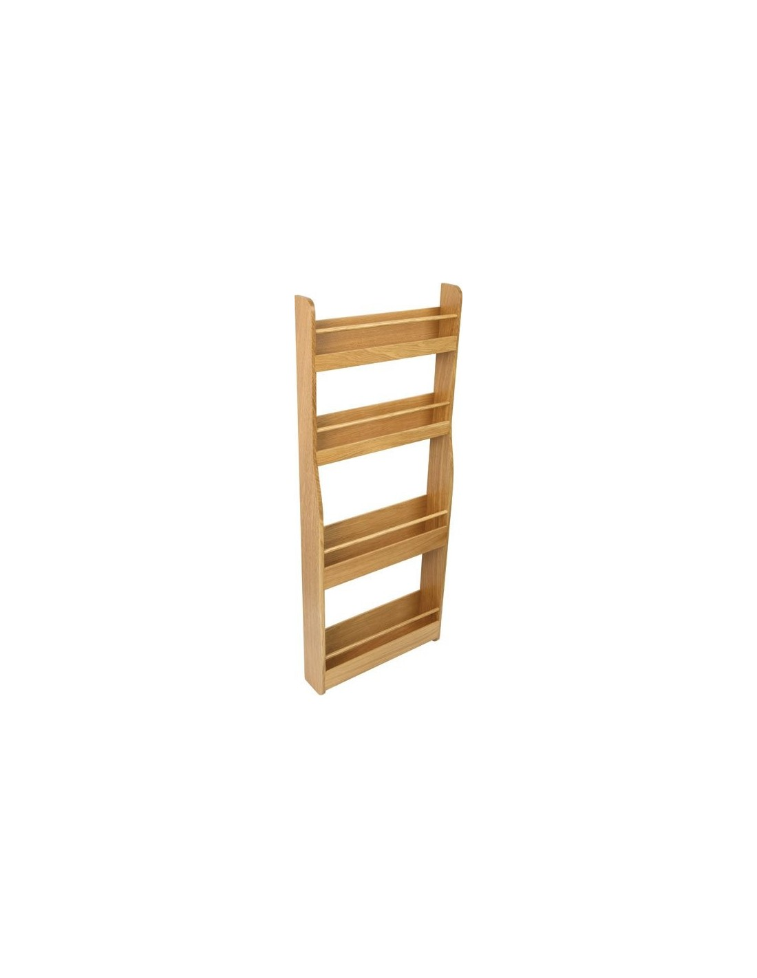 Oak Tall Storage Rack For Pantry \u0026 Larder Doors ...  sc 1 st  East Coast Kitchens & 54313423 SOLID OAK Tall Storage Rack Shelving Suits Door Fix £149
