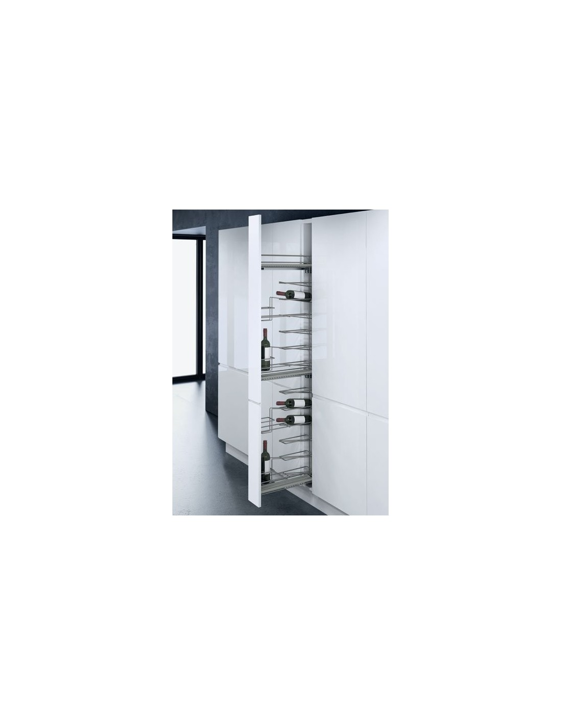 Wine racks for kitchen units suits 300 or 500mm from for Kitchen cabinets 500mm depth