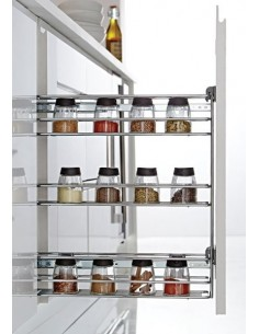 150mm Three Tier Pull Out Storage Unit Unhanded