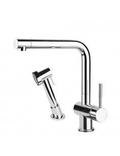 Gessi Oxygen 16556 Single Lever Mixer Tap Separate Handspray Chrome/Brushed