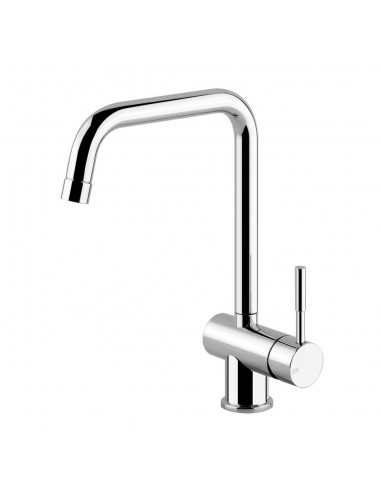 Gessi Oxygen 50309 Swivel U Spout Single Lever Mixertap Chrome/Brushed