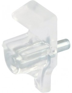 Glass Shelf Supports Plug In 3mm Hole, Transparent X10