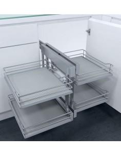 New CornerFlex Swing Out Corner Storage Solid Grey 900mm