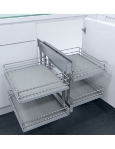 New CornerFlex Swing Out Corner Storage Premea Grey Solid 1000mm