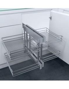 New CornerFlex Swing Out Corner Storage Saphir Mesh Baskets 900mm