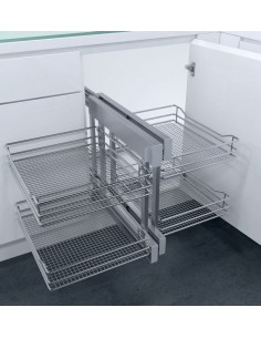 New CornerFlex Swing Out Corner Storage Saphir Mesh Baskets 900mm