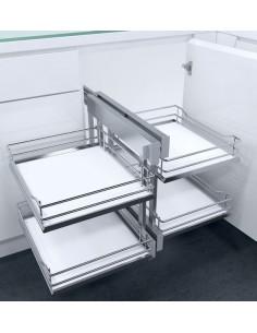 New CornerFlex Swing Out Corner Storage Premea White