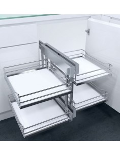 New CornerFlex Swing Out Corner Storage Premea White