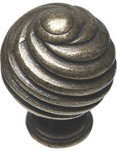Twister Knob Door Handle Antique Pewter Or Brass 30mm Dia