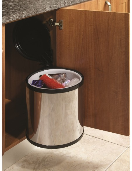 BIN10 Automatic Kitchen Waste Bin 12 Litres Stainless Steel