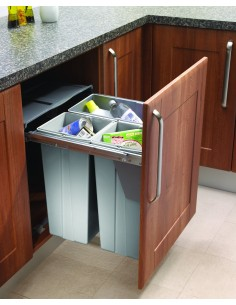 BIN19 Kitchen Waste Bin Large 68L Hinged or Pullout 600mm Base