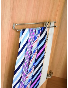 Tie Rack - Belt Or Scarfs Rack Chrome Twin Rail
