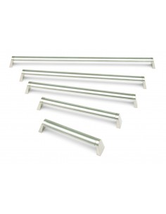 FF6866 Splayed Oval Bar Handles Brushed Nickel 30mm Thickness - 5 Sizes