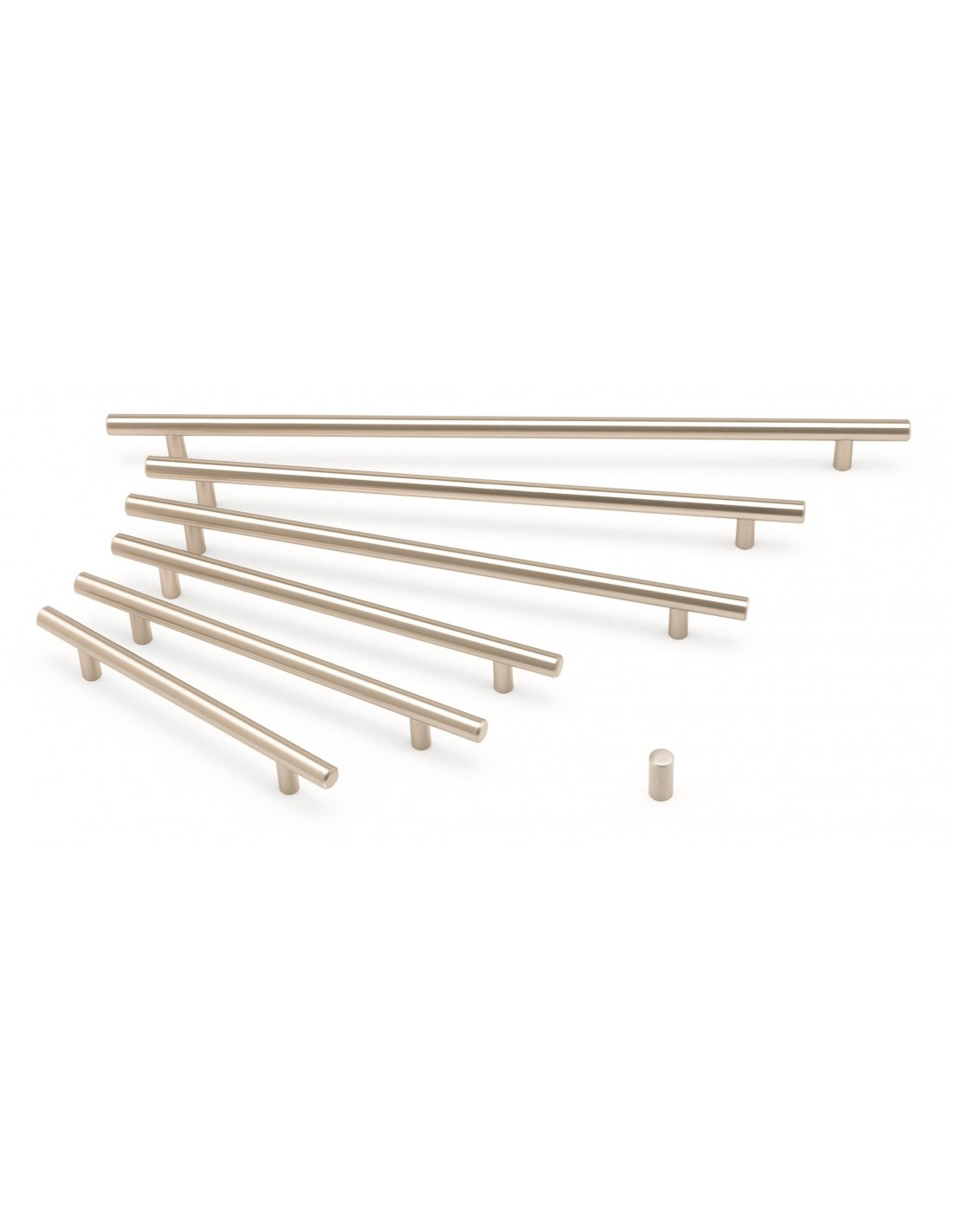 t bar handles brushed nickel various sizes