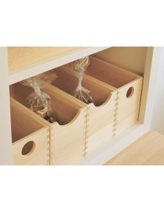 Oak Storage Boxes Set Of 4, Pantry/Larder Accessories