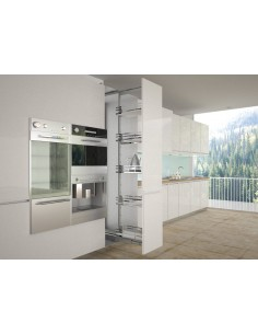 Sige 600mm Tall Larder Pull Out Plus Silver