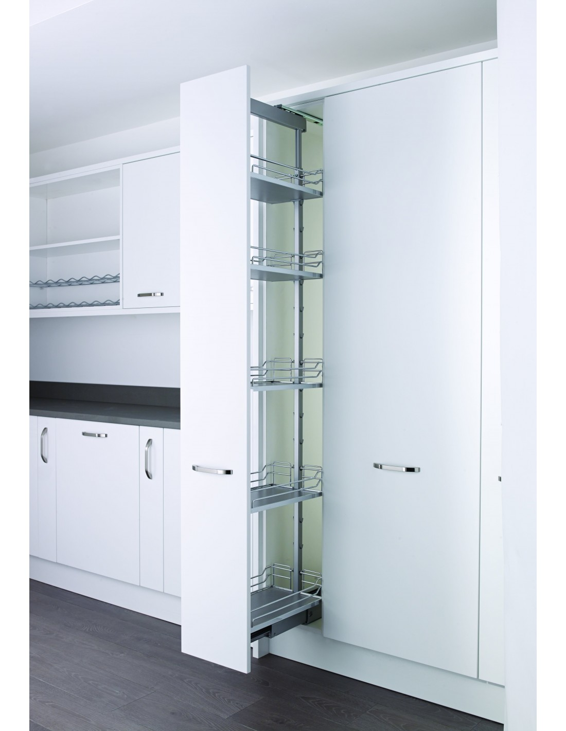 Kessebohmer pull out larder for 400mm tall units for Tall kitchen drawer unit