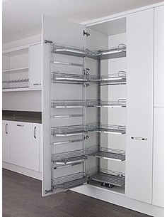600mm Tandem Larder Kessebohmer Arena Baskets 1700mm High