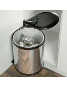 Hailo Kitchen Waste Bin Mono Automatic Opening 15L Stainless