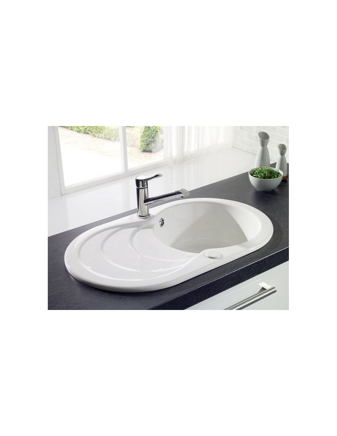 ceramic kitchen sinks uk denby sonnet so1b 1 0 bowl sink white glossy 5182