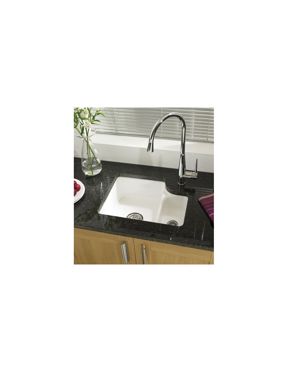 Ceramic Glossy white kitchen sink, 1.5 bowl only £335 includes waste ...