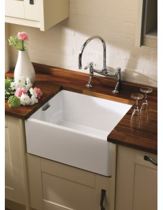 Shaws Belfast Kitchen Sink White Ceramic 460mm BE460