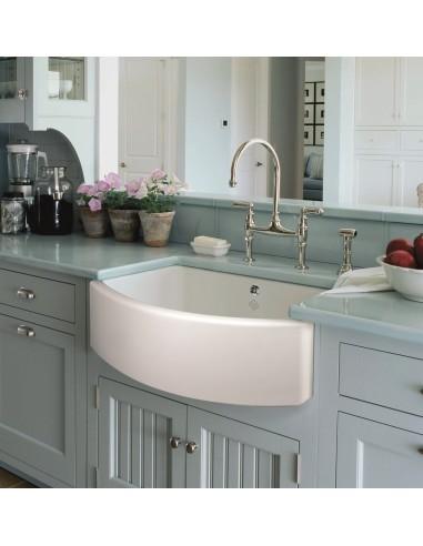 Shaws Waterside Belfast Kitchen Sink Apron Front White Ceramic For