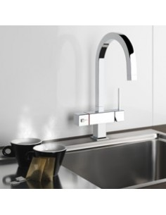 Gessi Quadro 98 3 Way Mixer Hot Water Filter Tap Modern Square