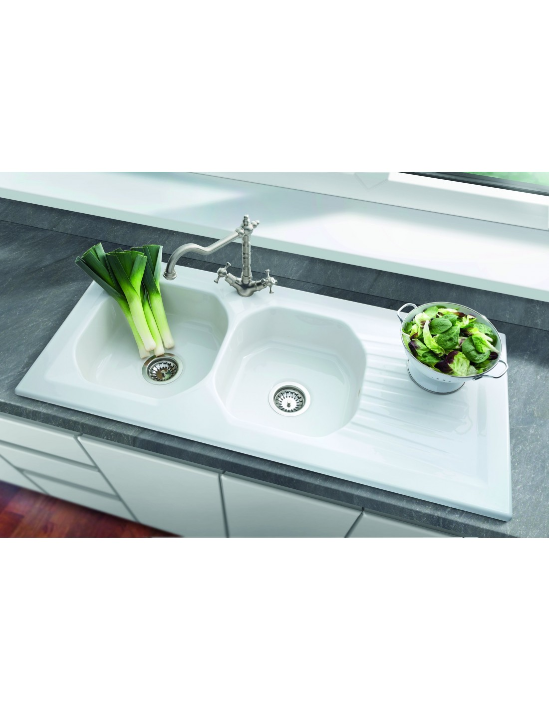 0 - Double Ceramic Kitchen Sink