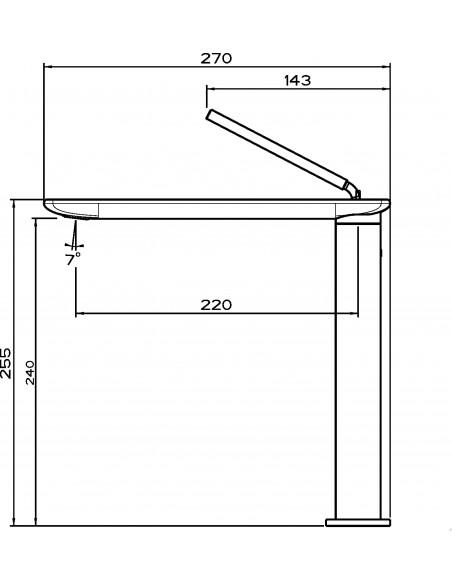 Gessi I-Spa 38512 Flat Single Lever Mixer Tap Chrome