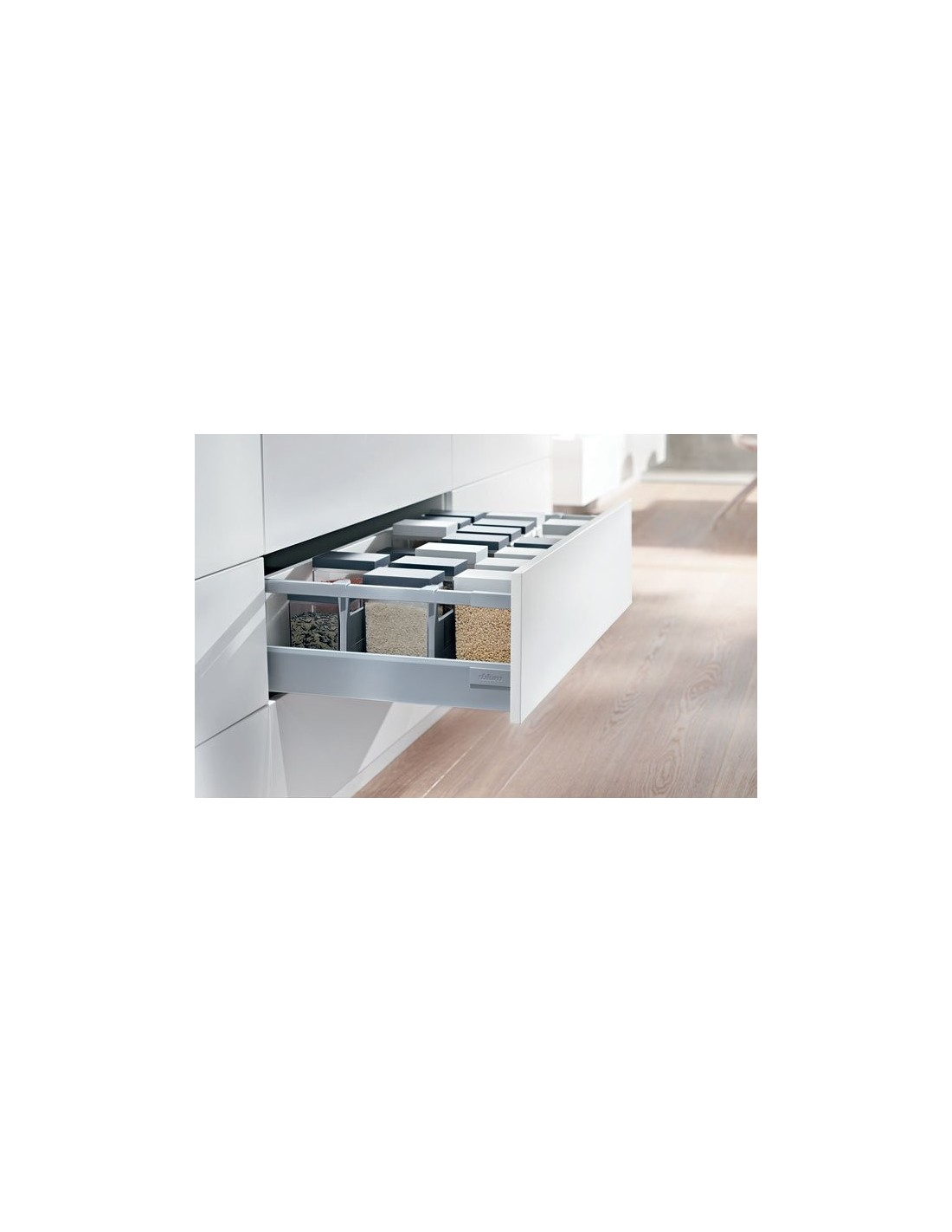 Blum antaro d height pan drawers grey soft closing for Kitchen cabinets 450mm depth