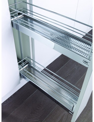 Kbp150 kessebohmer 150mm pullout base kitchen unit classic for Kitchen base unit shelf