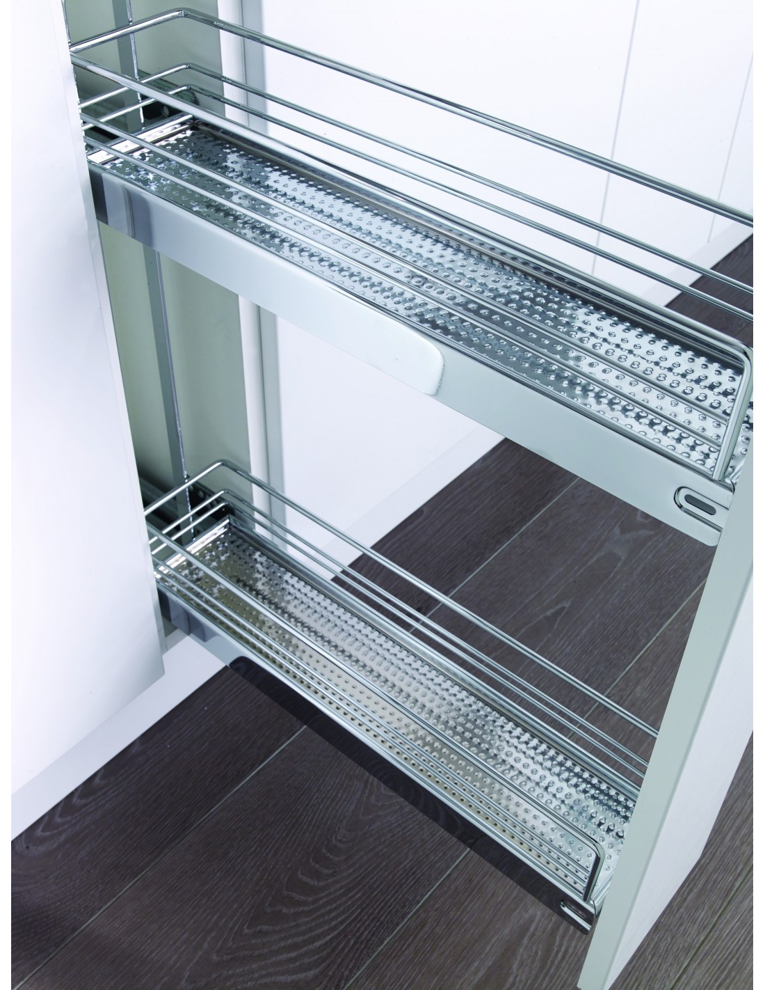 Kessebohmer Narrow Base Pull Out Storage Kbp150ch Chrome