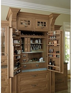 Natural Oak Pantry Shelves For Larders