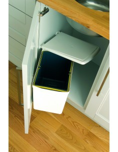 Under Sink Kitchen Waste Bin White 16L Auto Opening Lid