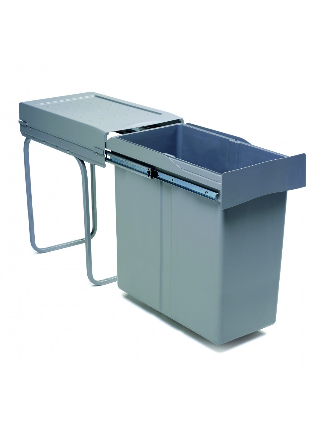 Kitchen Waste Bins #18: Romagna Single Container Kitchen Waste Bin 300mm 40L Pull Out Unit