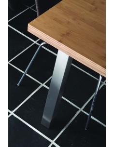 870mm Square Breakfast Bar Leg Support 60mm