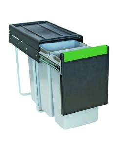 Pull Out Kitchen Waste Bin 30 Litres 3 x 10L