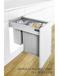 Wesco Pullboy Z Kitchen Waste Bin, Pull Out Door Fix 500mm Depth