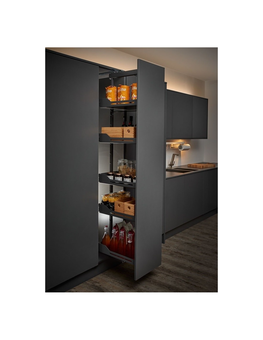 Peka Libell None Slip Tall Larder Systems For 400mm