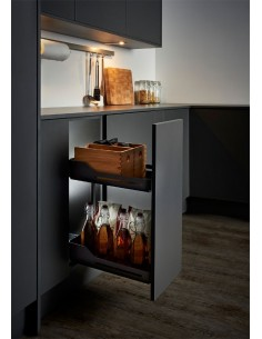 Peka Libell Snello 300mm Solid Base Unit Storage Baskets Anthracite