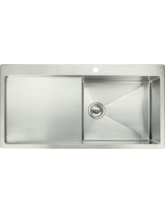 Square Kitchen Sink Stainless Steel 1.0 Bowl