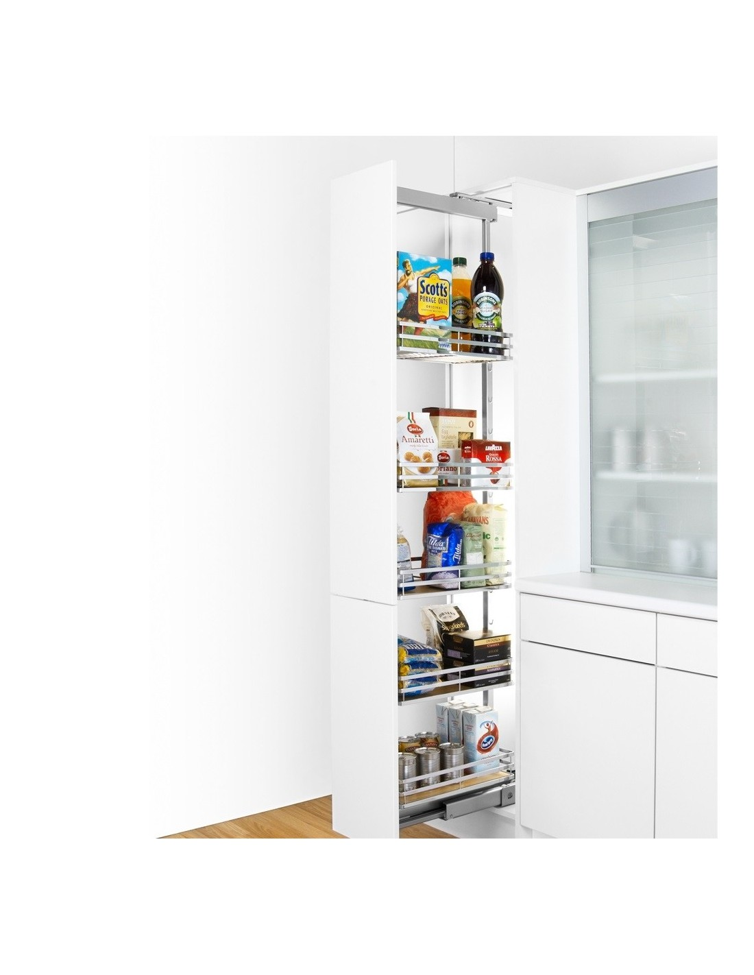 Peka Tall Larder System For Kitchen Units Suits 300mm Wide Units Only 315 Three Heights